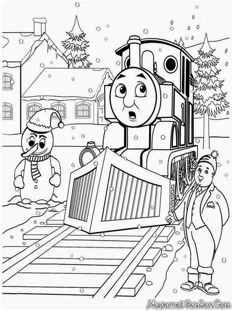 mewarnai gmabar kereta api thomasfriends mewarnai gambar