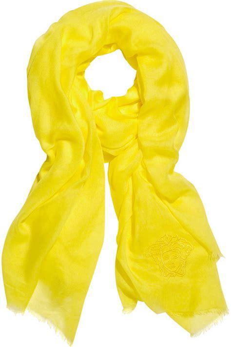 fashion trends yellow scarf fashion