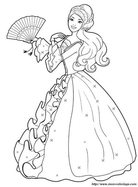 coloring prince princess page barbie   beautiful dress