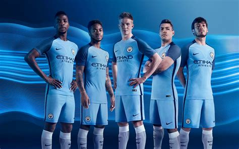 manchester city manchester city 16 17 home kit released footy headlines