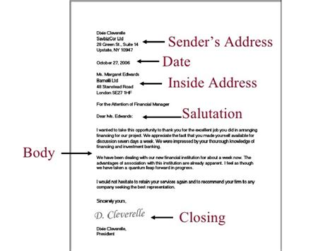 address in business letter format exle of inside address in business letters the letter
