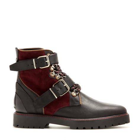s burberry boots burberry brit utterback leather ankle boots in brown lyst