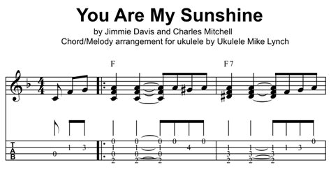 fingerstyle tutorial you are my sunshine ukulele ukulele picking tabs ukulele picking ukulele