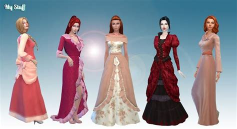 stuff female historical clothes pack  sims