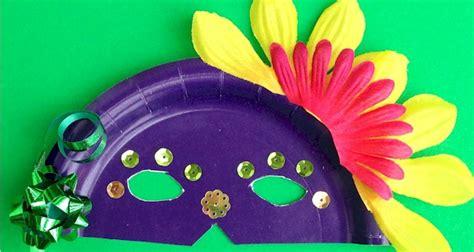 Paper Mask Martin paper plate masks mardi gras crafts for