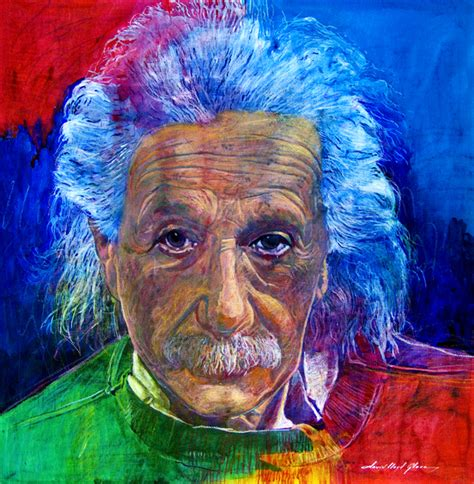 popular artwork albert einstein painting by david lloyd glover