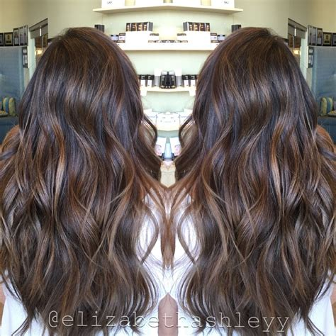 spring highlights for brunettes spring time natural brown balayage painted hair long
