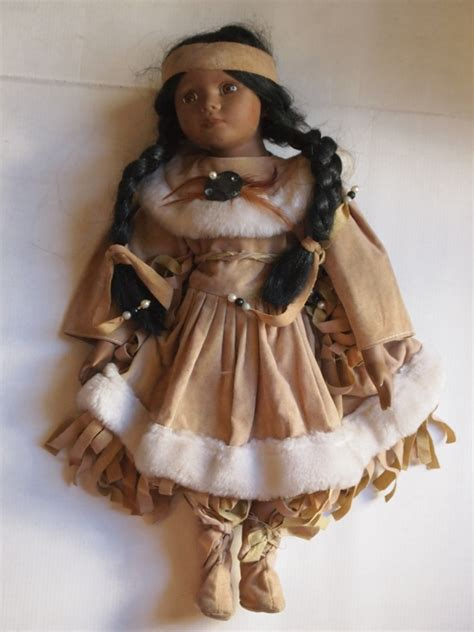 porcelain doll american indian vintage american indian doll porcelain arms