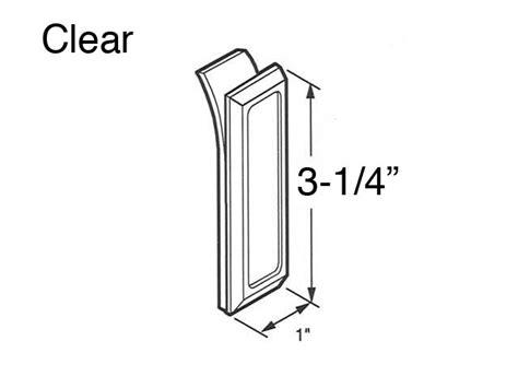 Adhesive Shower Door Handles - clear self adhesive pull for shower door 2 pack