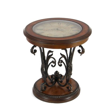 Casa Cortes Designer Round Clock Coffee End Table Ebay Coffee End Tables