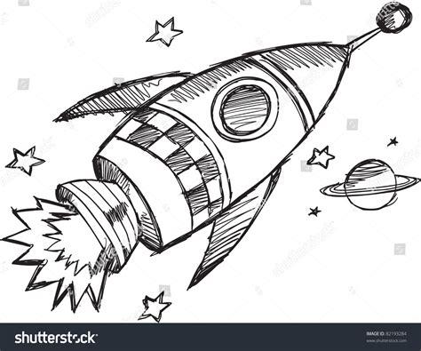 doodle how to make rocket doodle sketch rocket vector illustration 82193284
