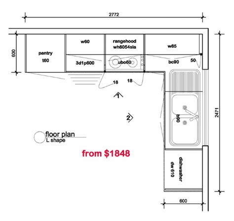 floor plan for kitchen l shaped kitchen floor plans kitchen floor plan
