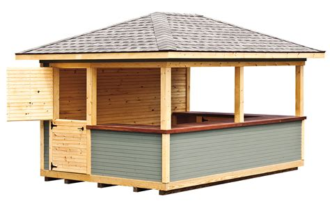 Shed Tiki Bar 10 x 16 wood tiki bar 171 amish sheds from bob foote