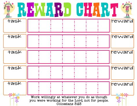 basic printable reward charts printable reward chart printable reward charts chart