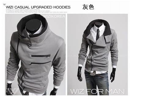 Jaket Korean Hoodie 19 Grayscale Size mens brands hoody jacket coat sweatshirt collar