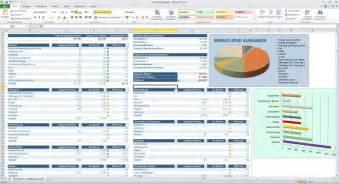 monatliche kosten haus haushaltsbudget excel vorlage bilder screenshots