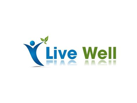 wellness fitness nutrition logo design for live well health wellness fitness