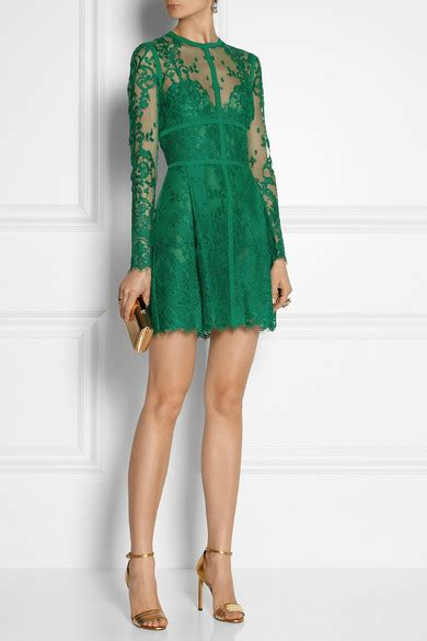 Minidress Elie elie saab lace mini dress net a porter