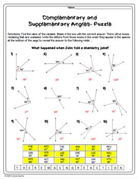 Supplementary And Complementary Angles Worksheets by Complementary And Supplementary Worksheet Wiildcreative