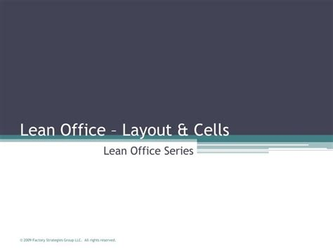 lean layout ppt ppt lean office layout cells powerpoint presentation