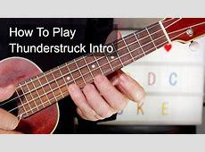 'Thunderstruck' Intro AC/DC Ukulele Lesson - YouTube Ac Dc Thunderstruck Guitar Tabs