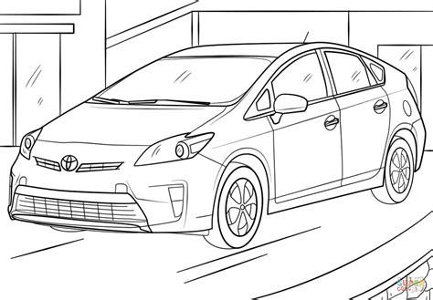 coloring pages toyota cars toyota prius coloring page free printable coloring pages