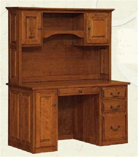 Large Computer Desk With Hutch Amish Office Furniture Oak And Maple Furniture