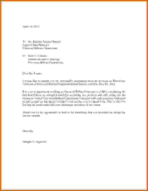 Lease Resignation Letter 5 Images Of Resignation Lease Template
