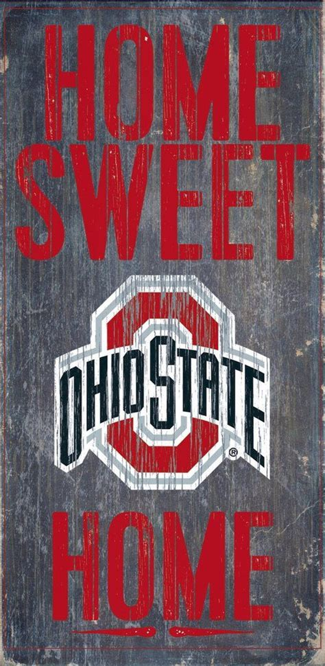 Ohio State Buckeyes Home Decor by Officially Licensed Ohio State Football Home Sweet Home