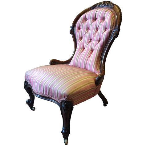 nursing armchair antique salon chair button back armchair victorian walnut
