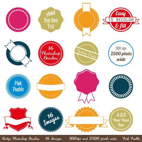 template badge photoshop badges photoshop brushes brushes on creative market