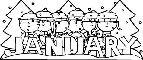 january coloring pages 67 best clip months images on calendar
