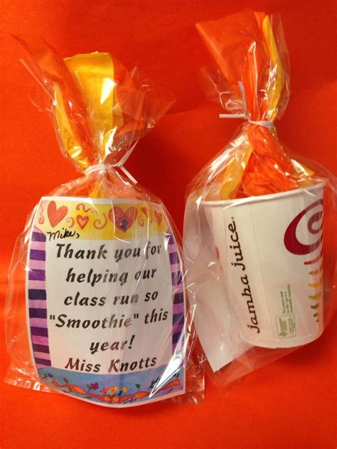 Juice It Up Gift Card - end of year volunteer gift jamba juice gift card a quot thank you for helping our class