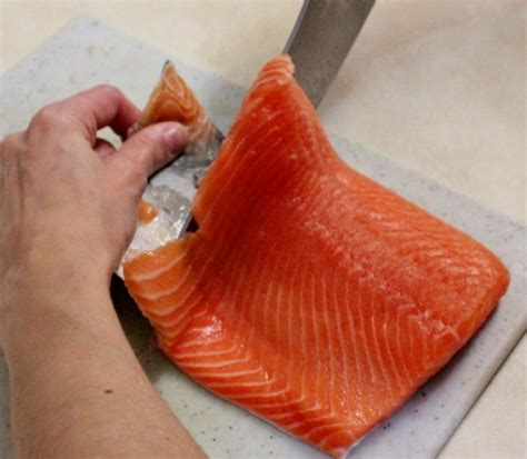 Kitchen Corner Fillet by How To Skin Salmon Olga S Flavor Factory