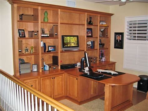 bookcase with sided desk custom two sided island computer desk file cabinet for