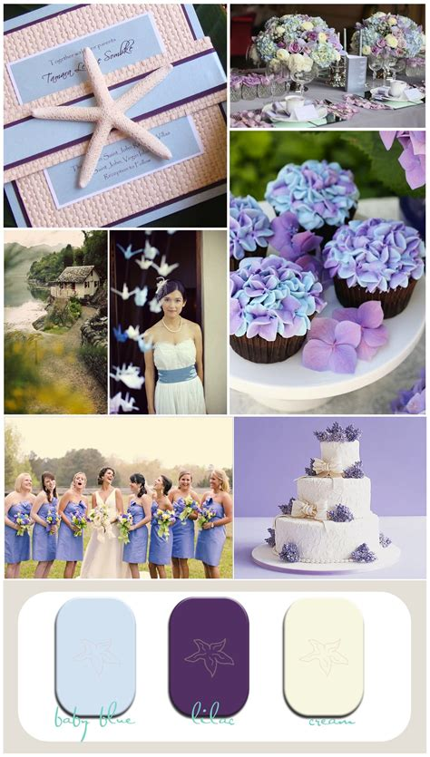 and purple wedding inspiration board for