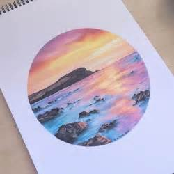 how to draw a sunset with colored pencils best 25 colored pencil drawings ideas on