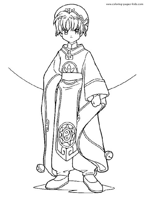 cardcaptor sakura color page coloring pages for kids