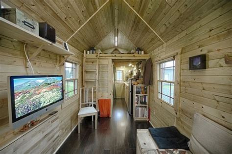How Do You Find The Square Footage Of A House by The Tiny Tack House A Wooden Mobile Home Built On A Trailer