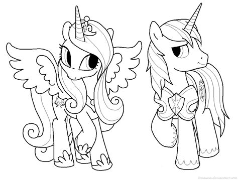my little pony princess cadence coloring pages coloring home