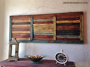 rustic wood wall panel distressed shutter antique vintage