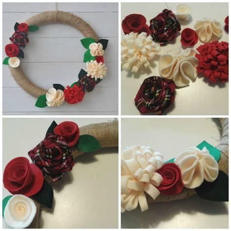 pannolenci fiori ghirlanda natalizia con fiori in pannolenci tutorial in