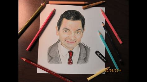 Mr Bean Line speed drawing of mr bean rowan atkinson