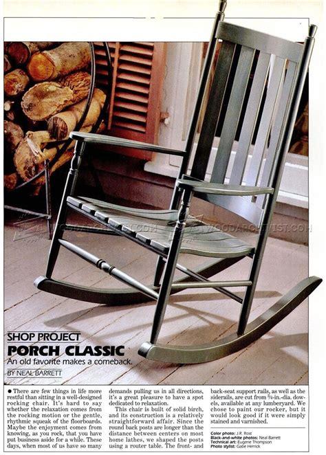 classic rocking chair plans woodarchivist
