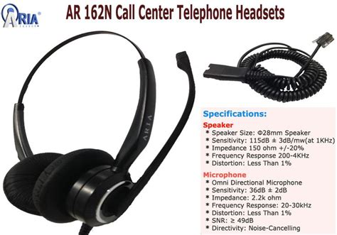Headset Untuk Call Center ar 162n call center telephone headsets with rj9 qd ar 162n is a binaural headset comfortable