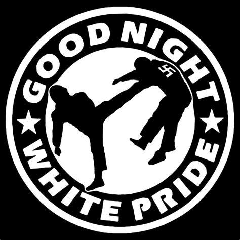 good night white pride images good night white pride antifa logo sticker design by