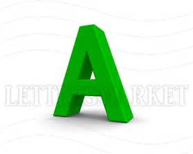 lettersmarket 3d blue letter a isolated on a white