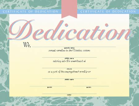 Certificate Of Baby Dedication Pack Of 6 4 Color Baby Dedication Card Template
