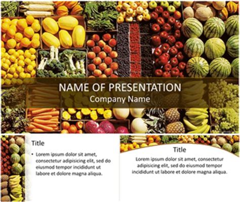 healthy food powerpoint template templateswise com