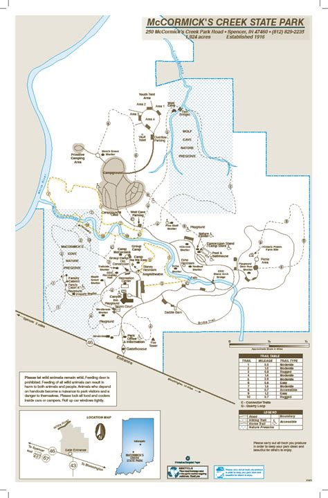 creek state park trail map mccormick s creek state park indiana planned spontaneity